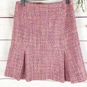 Neiman Marcus Exclusive Nubby Tweed A line Skirt